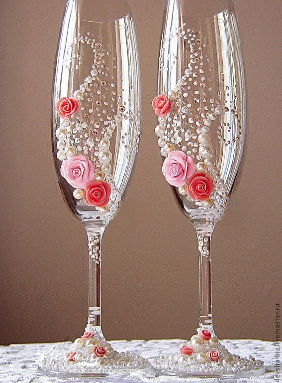 Свадебные бокалов своими руками